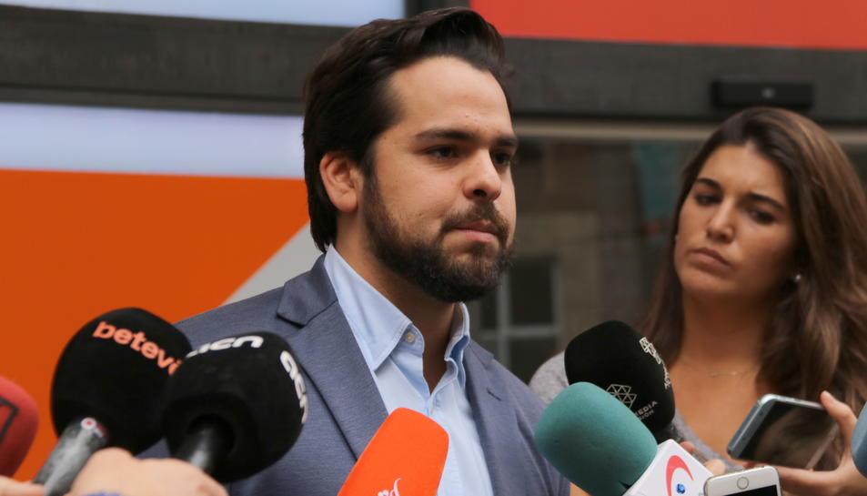 El secretari de Comunicació de Ciutadans (Cs) i portaveu adjunt al Parlament, Fernando de Páramo.