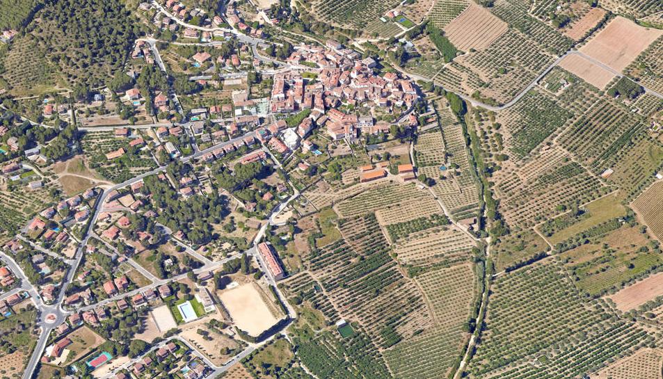 Traçat de la carretera actual de la circumval·lació d'Almoster.