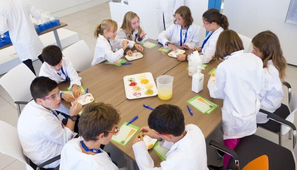 Un grup d'escolars durant les jornades del Kids'Lab.