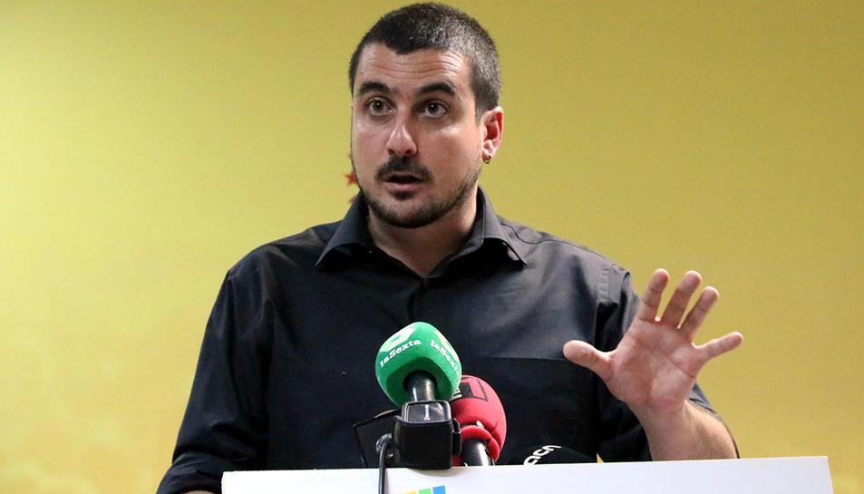 El portaveu del secretariat de la CUP, Quim Arrufat.