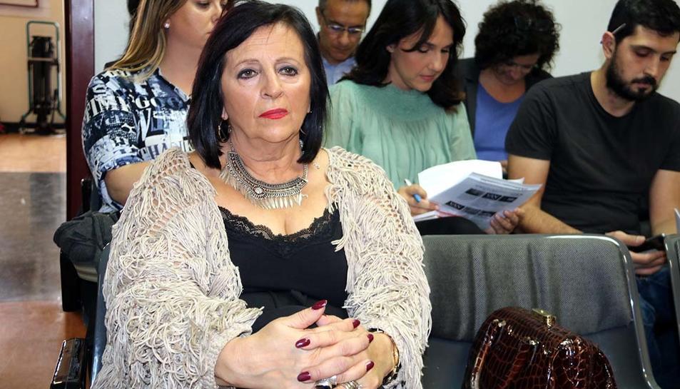 Imatge d'arxiu de Pilar Abel, a la sala de vistes del jutjat d'instrucció 11 de Madrid.