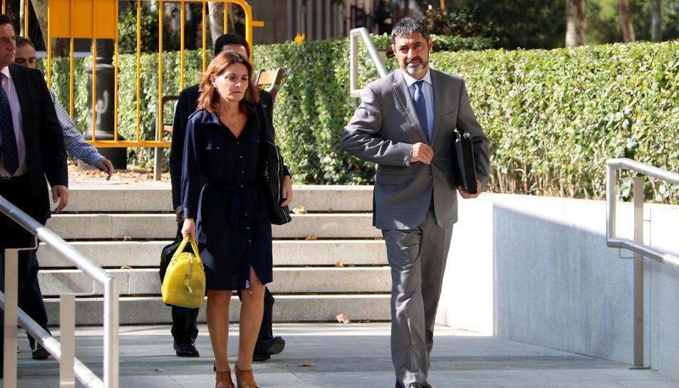 El major dels Mossos, Josep Lluís Trapero, sortint de l'Audiència Nacional el 16 d'octubre de 2017