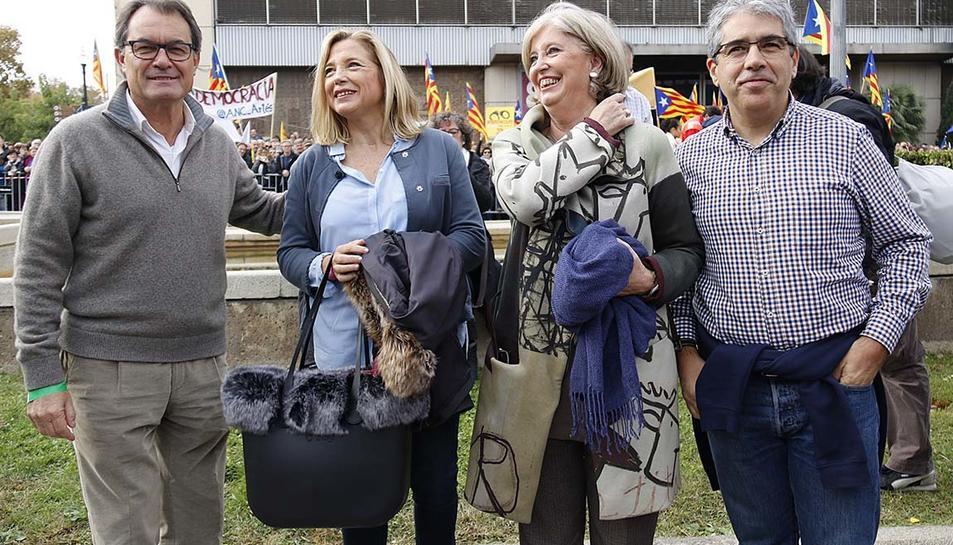 L'expresident de la Generalitat Artur Mas i els exconsellers Joana Ortega, Francesc Homs i Irene Rigau.