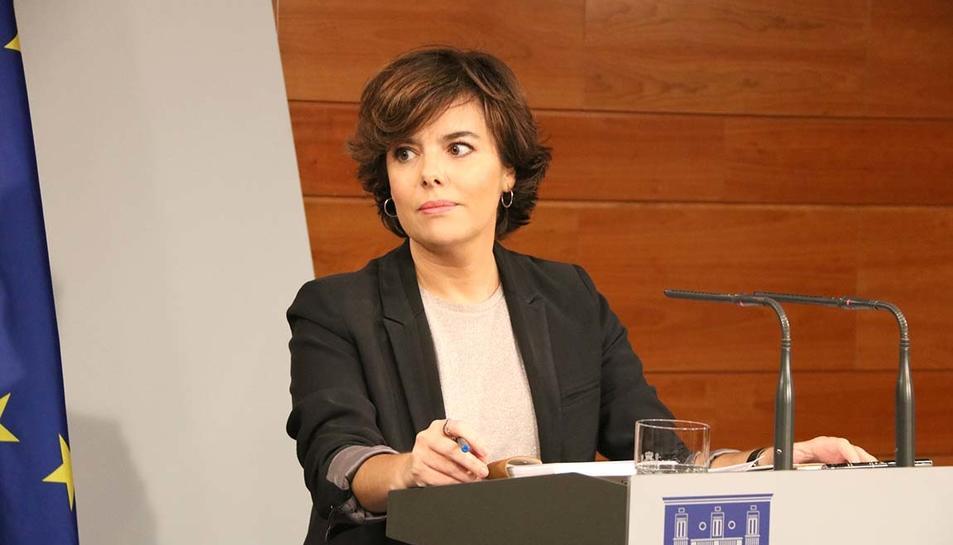 La vicepresidenta del govern espanyol, Soraya Sáenz de Santamaría.