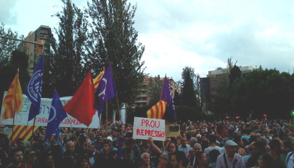 Imatge de la concentració a la Plaça Imperial Tàrraco.