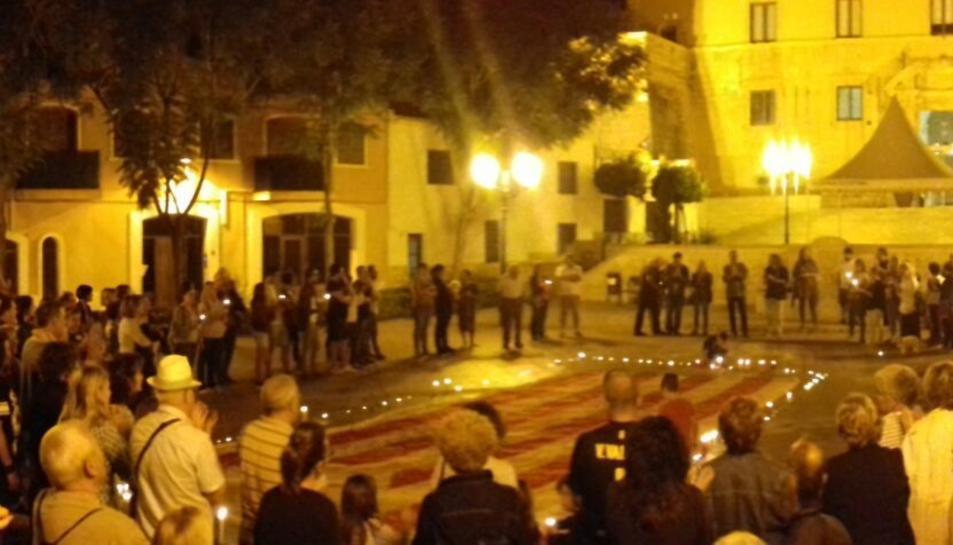 Imatge de la concentració que ha tingut lloc a Torredembarra.