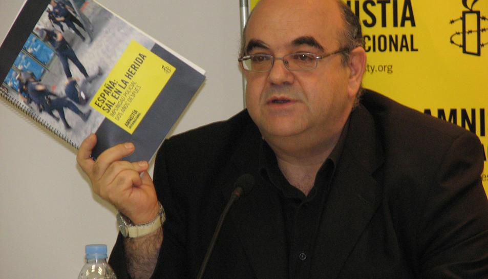 Foto d'arxiu d'Esteban Beltrán, director a Espanya d'Amnistia Internacional.
