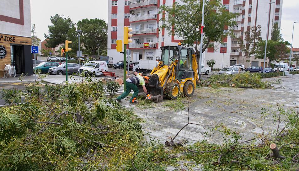 Imágenes de los desperfectos causados por el temporal en Valls