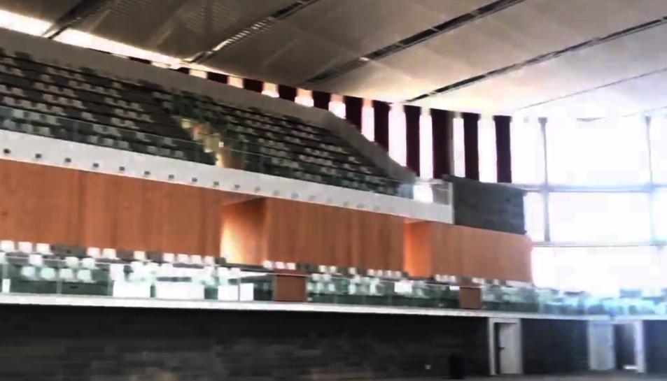 Així és el Palau d'Esports per dins.