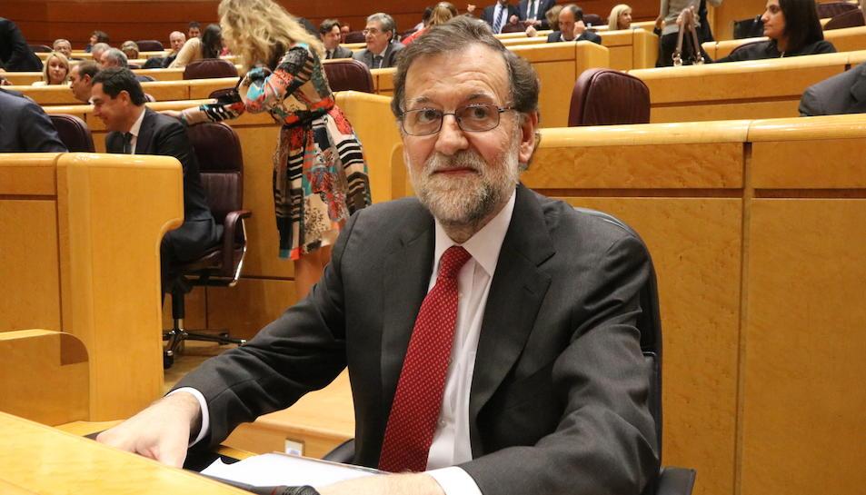 Imatge d'arxiu d'el president del govern espanyol, Mariano Rajoy, al Senat.