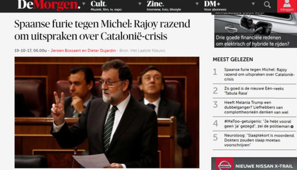 Article a 'De Morgen'.