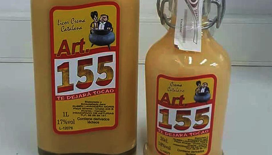 Imatge de l'ampolla de crema catalana 'Artículo 155'.