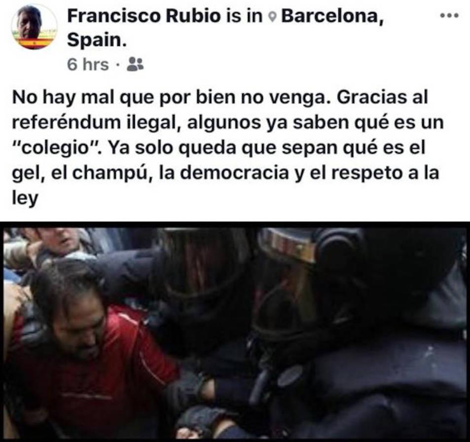 Imatge d'una de les piulades de Francisco Rico.