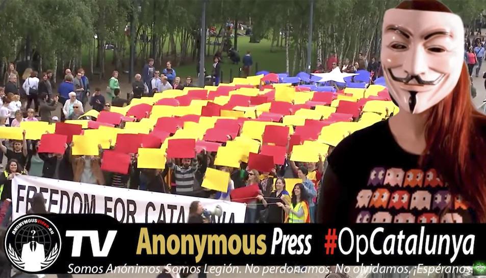 Els activistes han mostrat el seu suport a l'independentisme català.