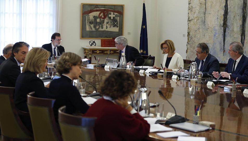 Reunió del Consell de Ministres, aquest 21 d'octubre.