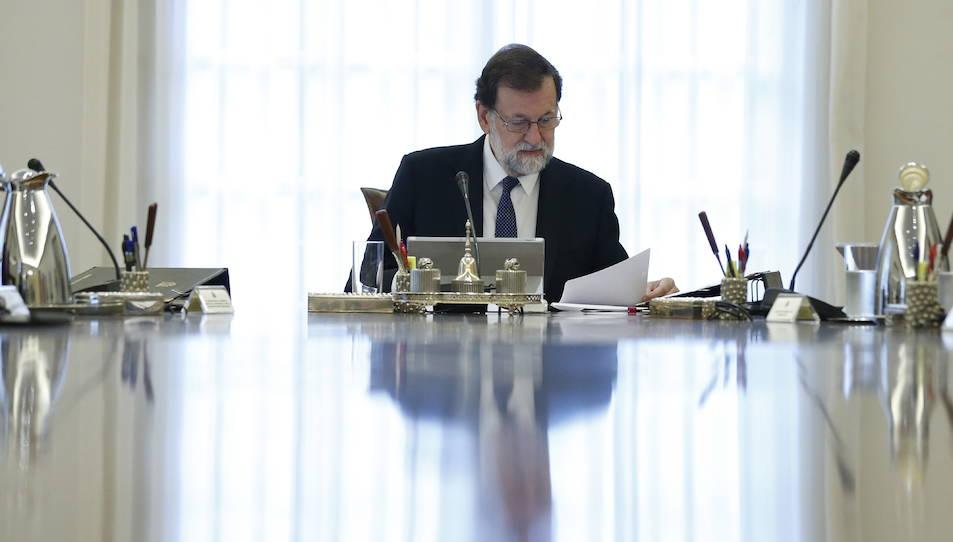 Mariano Rajoy presidint el Consell de Ministres extraordinaris en el que s'han acordat les mesures d'aplicació del 155.
