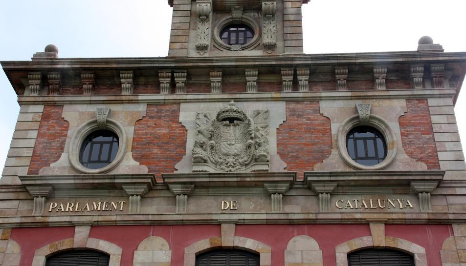 La façana del Parlament de Catalunya, en una imatge d'arxiu.