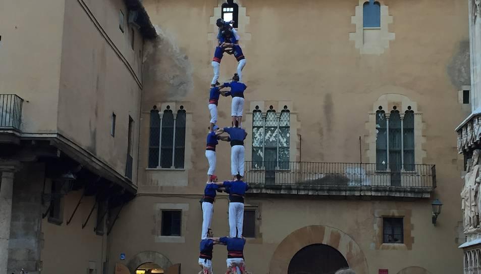 3de8 dels Castellers de la Vila de Gràcia a la diada de l'Esperidió.