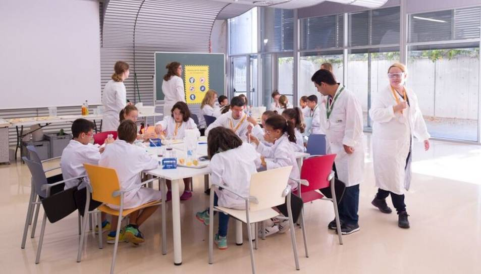 Nens i nenes participant a les activiitats promogudes per BASF.