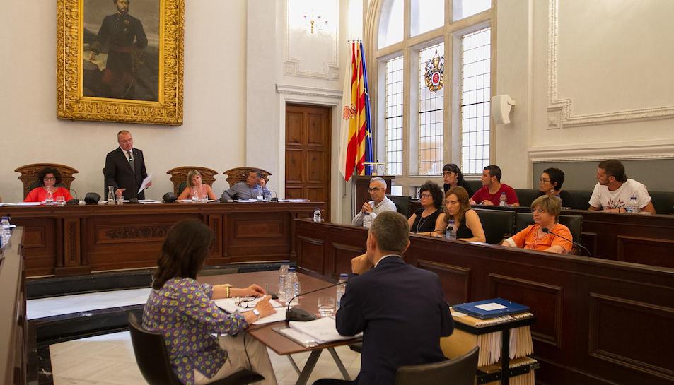 Una imatge d'arxiu d'un dels darrers plens de l'Ajuntament de Reus, el passat juliol.