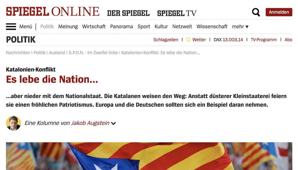 L'article defensa que el nacionalisme català no és 'excloent'.