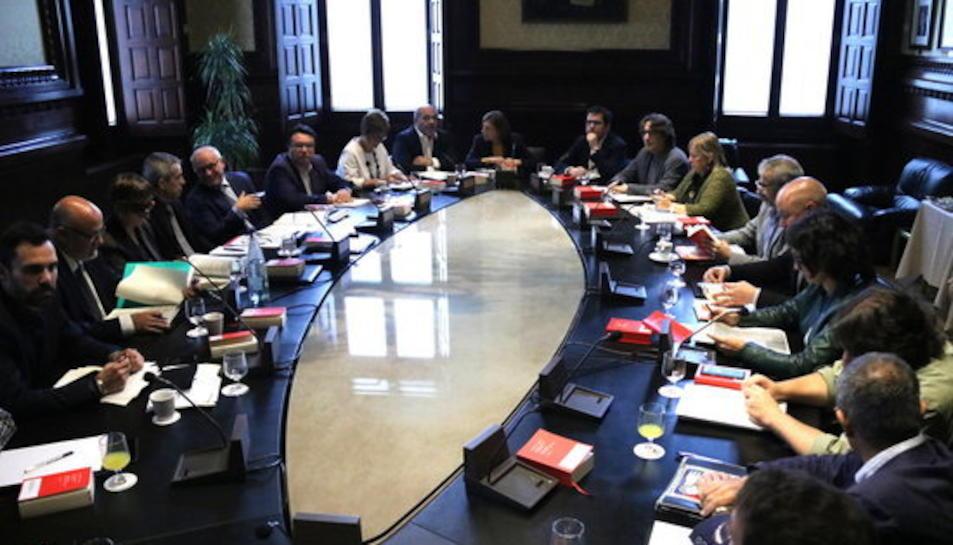 Imatge de la Junta de Portaveus, el 23 d'octubre de 2017.