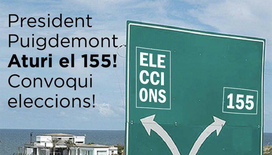 MIssatge del PSC de Tarragona distribuït per les xarxes socials.