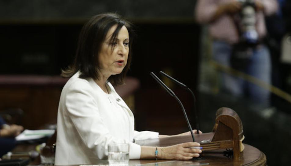 La portaveu del PSOE, Margarita Robles, en una intervenció al Congrés.