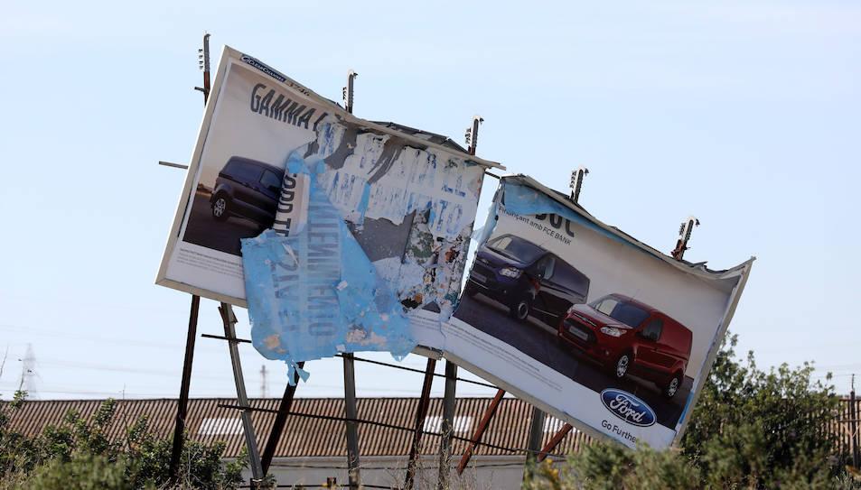 El cartell es troba a la carretera T-11, a l'entrada de la ciutat de Tarragona.