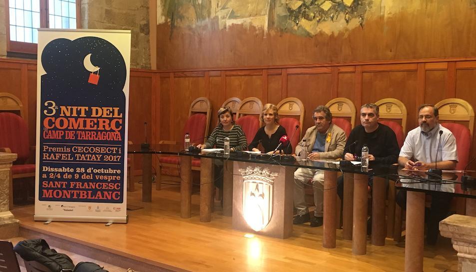Imatge de la presentació de la Nit del Comerç a Montblanc.
