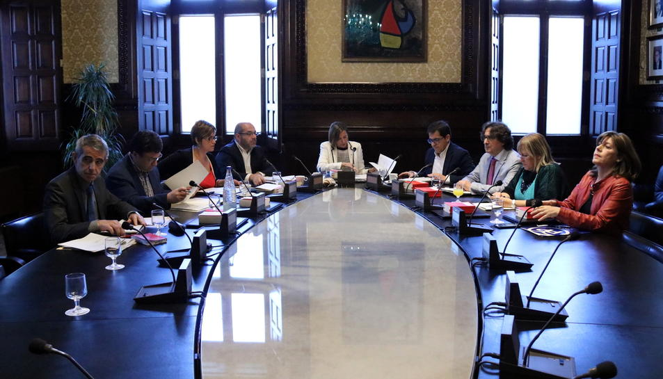 Imatge d'arxiu de la Mesa del Parlament, reunida aquest 17 d'octubre.