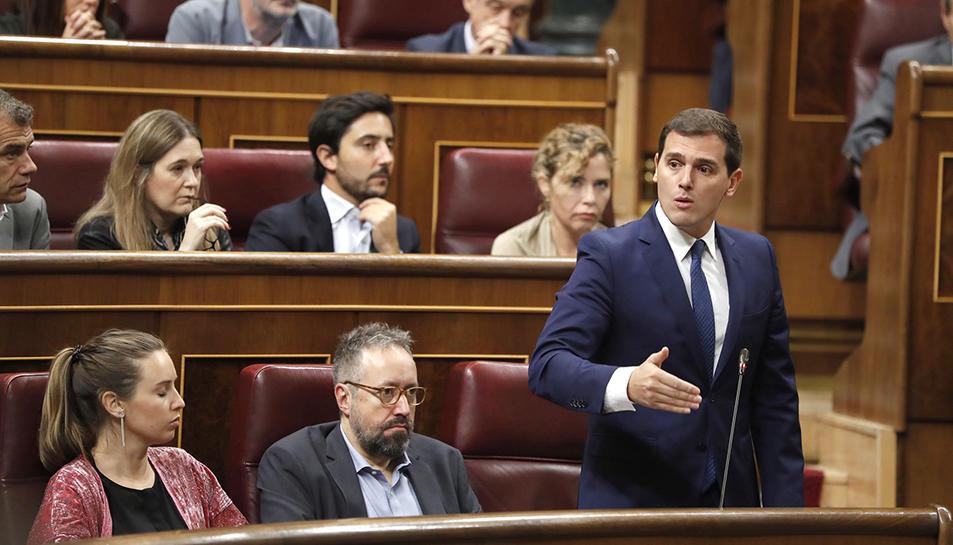 Albert Rivera, aquest dimecres, al Congrés dels Diputats.