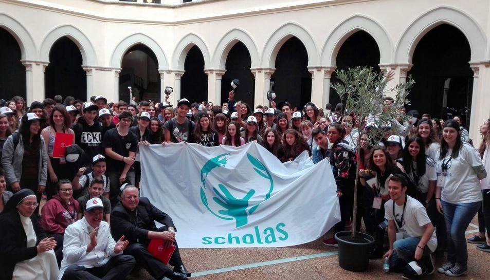 Imatge de la recent Trobada d'Scholas Ocurrentes a Tarragona