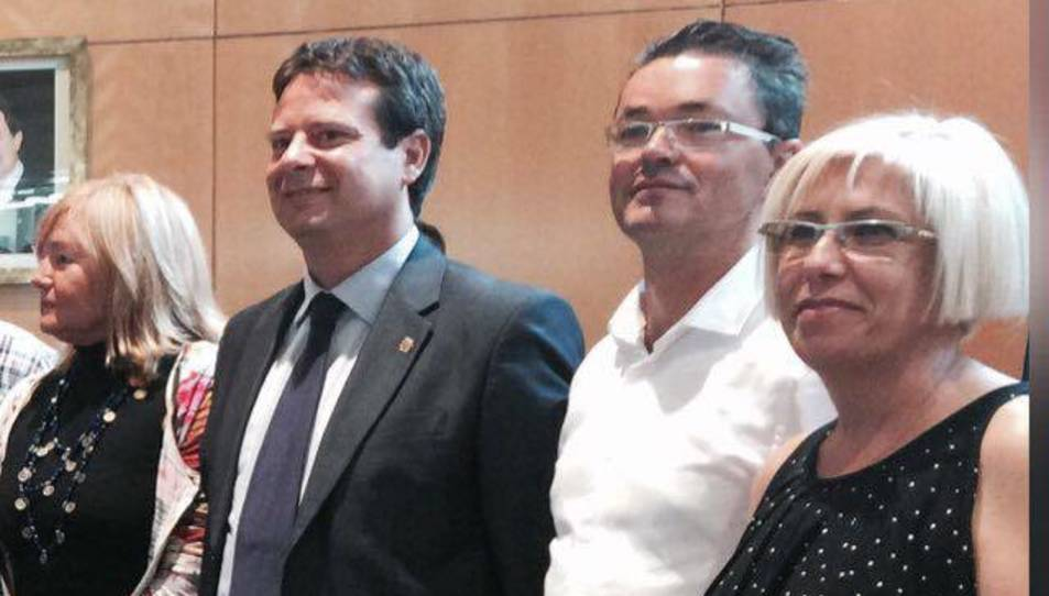 Els tres regidors que abandonen el partit juntament amb Enric Daza.