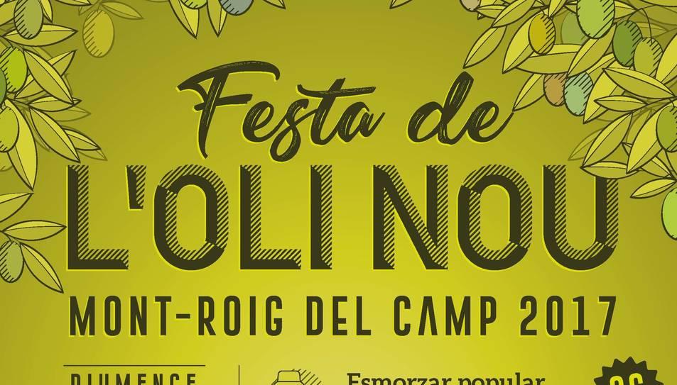 Cartell Festa de l'oli nou 2017 de Mont-roig del Camp.