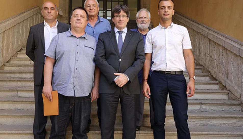 La reunió que es va produir aquest mes d'agost on es va oferir a Carles Puigdemont allotjament en cas d'exili forçós.