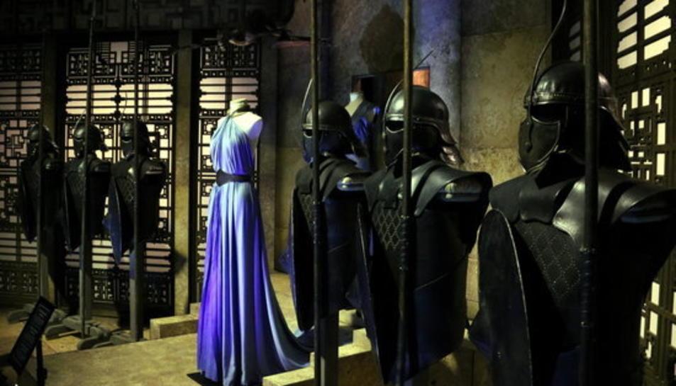 Armadures dels guerrers Immaculats a l'exposició de 'Joc de Trons'.