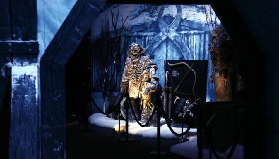 Una de les sales de la mostra de 'Joc de Trons' al Museu Marítim de Barcelona, el 26 d'octubre del 2017.