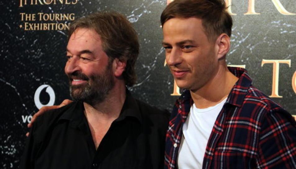 Els actors de 'Joc de Trons', Tom Wlaschiha i Ian Beattie, al Museu Marítim de Barcelona, el 26 d'octubre del 2017.