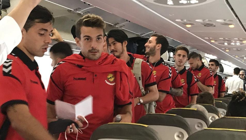 Alguns dels futbolistes concentrats.