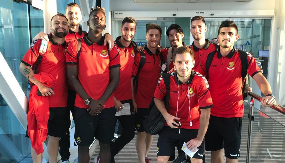 Els jugadors, a l'aeroport.