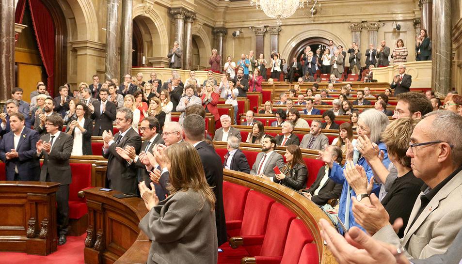 El Parlament de Catalunya, aquest dijous.