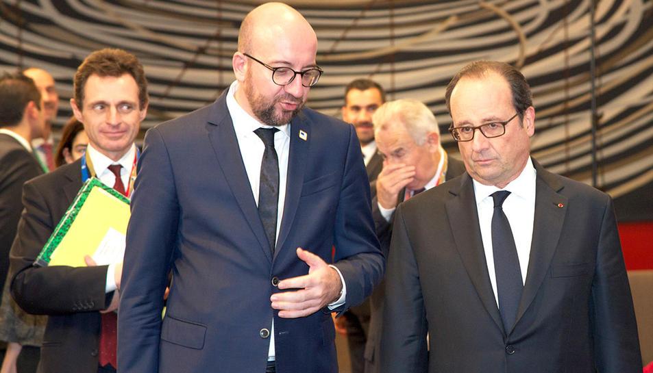 Charles Michel, primer ministre belga, a l'esquerra.