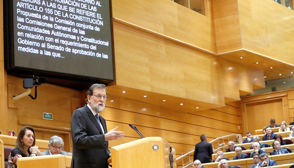 El president del Govern espanyol, Mariano Rajoy, al Senat.