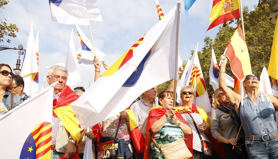 Imatge d'arxiu de participants a la manifestació convocada per SCC el passat 12 d'octubre.