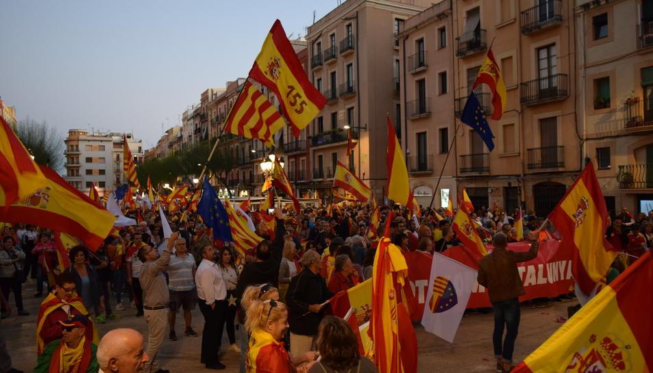 Manifestació unionista a Tarragona convocada per SCC