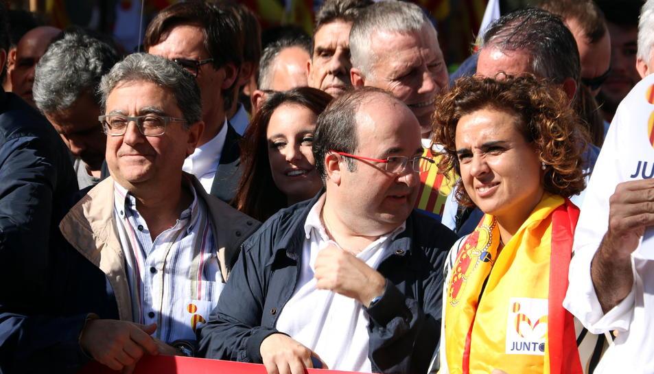 És la primera vegada que Miquel Iceta participa en una manifestació de SCC.