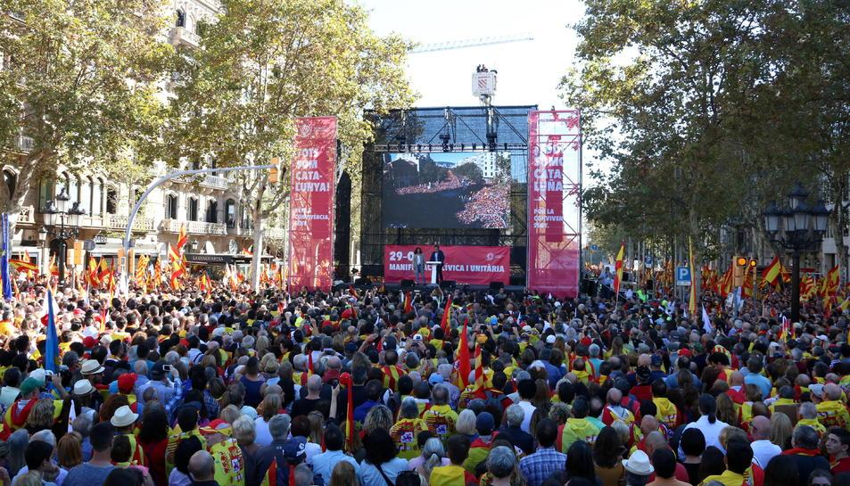 Imatge de la manifestació organitzada per SCC aquest diumenge.