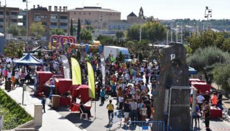 Imatge de les activitats durant la Festa de l'Esport a Torredembarra.