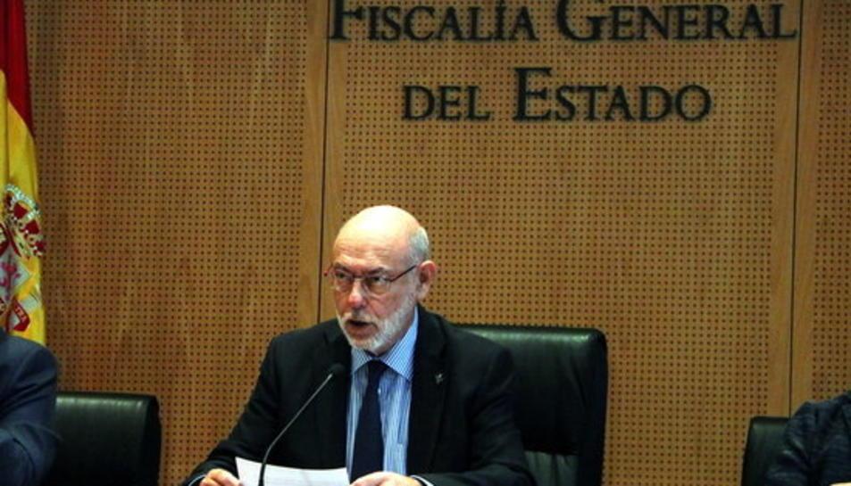 El fiscal general de l'Estat, José Manuel Maza, durant la declaració el 30 d'octubre de 2017.